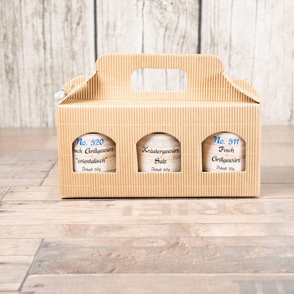 fisch gew rz zum grillen und braten im 3er geschenkset zum einf hrungspreis gew rze. Black Bedroom Furniture Sets. Home Design Ideas